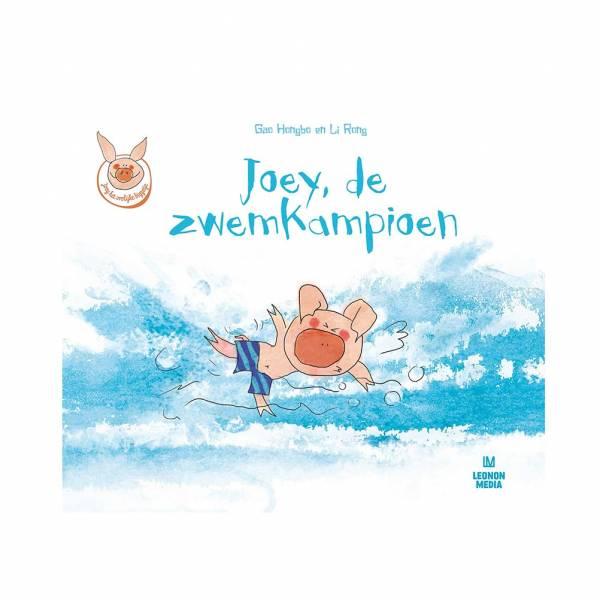 Joey het vrolijke biggetje De Zwemkampioen Leonon Kinderboeken